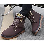 baratos Sapatos Masculinos-Homens Coturnos Couro Ecológico Inverno Botas Botas Curtas / Ankle Preto / Castanho Claro / Castanho Escuro