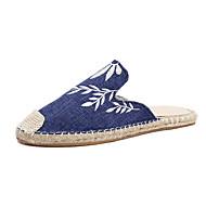 baratos Sapatos Femininos-Mulheres Sapatos Lona Primavera Verão Conforto Tamancos e Mules Caminhada Sem Salto Dedo Fechado Cinzento / Azul