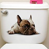 billiga Väggklistermärken-Klistermärken för kylskåp Toalettstickers - Animal Wall Stickers Djur 3D Vardagsrum Sovrum Badrum Kök Matsalsrum Studierum / Kontor
