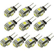 billige Bi-pin lamper med LED-WeiXuan 6pcs 1W 80lm G4 LED-lamper med G-sokkel T 5 LED perler SMD 5050 Varm hvit Kjølig hvit Grønn Gul Blå Rød 12V