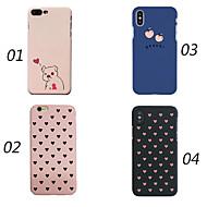 billiga Mobil cases & Skärmskydd-fodral Till Apple iPhone X / iPhone 8 Stötsäker / Ultratunt / Frostat Skal Ord / fras / Hjärta / Djur Hårt PC för iPhone X / iPhone 8 Plus / iPhone 8