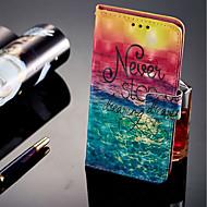 billiga Mobil cases & Skärmskydd-fodral Till Huawei Honor 9 Lite Korthållare / Plånbok / med stativ Fodral Landskap Hårt PU läder för Huawei Honor 9 Lite / Honor 7C(Enjoy
