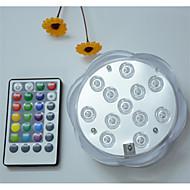billiga Belysning-1st 5W Undervattensglödlampa Fjärrstyrd Bimbar Vattentät Dekorativ RGB 4.5V Lämplig för vaser och akvarier