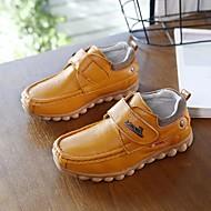 baratos Sapatos de Menino-Para Meninos Sapatos Pele Outono Conforto Mocassins e Slip-Ons para Preto / Amarelo
