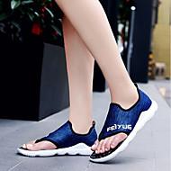 Homens sapatos Tecido Verão Conforto Sandálias Cinzento / Vermelho / Azul