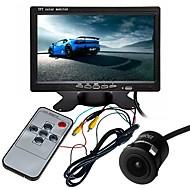 billiga Parkeringskamera för bil-ziqiao 7 tums tft-lcd ccd multifunktionell display / 170 graders vattentät bil baksidesats