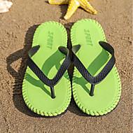 baratos Sapatos Masculinos-Homens Couro Sintético Verão Conforto Chinelos e flip-flops Vermelho Escuro / Azul Real / Verde Escuro