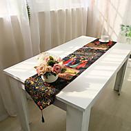 コンテンポラリー PVC / コットン 方形 テーブルランナー パターン柄 テーブルデコレーション