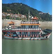 Χαμηλού Κόστους Κουρτίνες Μπάνιου-Κουρτίνες μπάνιου & γάντζοι Σύγχρονο / Μοντέρνα Πολυεστέρας Πλοίο Μηχανοποίητο Αδιάβροχη Μπάνιο