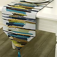 billige Bordduker-Moderne Bomull Kvadrat Bordløpere Geometrisk Borddekorasjoner 1 pcs