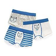 billige Undertøj og sokker til babyer-3stk Baby Pige Stribet Trykt mønster Undertøj og strømper