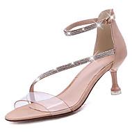 Χαμηλού Κόστους Shoes Trends-Γυναικεία Παπούτσια PU Καλοκαίρι Ανατομικό Σανδάλια Τακούνι Στιλέτο Μαύρο / Χακί