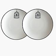 저렴한 -2pcs 도자기 창의적 / 멋진 디너 그릇, 식탁