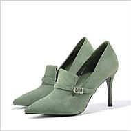 baratos Sapatos Femininos-Mulheres Sapatos Couro Primavera Verão Inovador Saltos Salto Agulha Preto / Verde / Camel / Festas & Noite / Festas & Noite