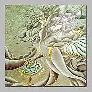 billiga Oljemålningar-Hang målad oljemålning HANDMÅLAD - Abstrakt Vintage Duk
