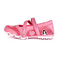 お買い得  フラワーガールシューズ-女の子 靴 通気性メッシュ 夏 フラワーガールシューズ サンダル のために フクシャ / ピンク / ホワイトとパープル