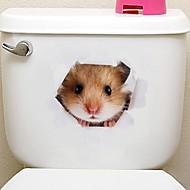 لواصق الثلاجة لواصق المرحاض - ملصقات الحائط الحيوان حيوانات 3D غرفة الجلوس غرفة النوم دورة المياه مطبخ غرفة الطعام غرفة دراسة / مكتب