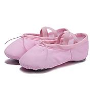 Dames Balletschoenen Canvas Platte schoenen Speciale hak Aanpasbaar Dansschoenen Zwart / Rood / Roze / Oefenen