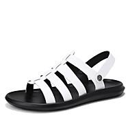 olcso -Férfi cipő Gumi Nyár Kényelmes Szandálok Fehér / Fekete / Sárga