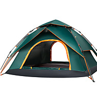 Sheng yuan 4 person Automatic Tent Outdoor Rain Waterproof Quick Dry Double Layered Automatic Dome Camping Tent 2000-3000 mm for Camping / Hiking / Caving Traveling Oxford Cloth Oxford cloth