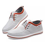baratos Sapatos Masculinos-Homens Jeans Outono Casual / Conforto Tênis Preto / Cinzento / Azul