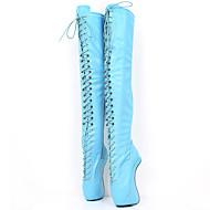 baratos Sapatos Femininos-Mulheres Sapatos Couro Ecológico Outono & inverno Inovador / Botas da Moda Botas Calcanhar Heterotípico Ponta Redonda Botas Acima do