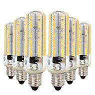 billige Bi-pin lamper med LED-YWXLIGHT® 6pcs 7W 600-700lm E11 LED-lamper med G-sokkel T 152 LED perler SMD 3014 Mulighet for demping Varm hvit / Kjølig hvit 220-240V /