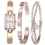 billige Quartz-Dame Armbåndsur Japansk Kronograf Legering Bånd Armring / Minimalistisk Sølv / Rose Guld / To år / Sony SR626SW + CR2025