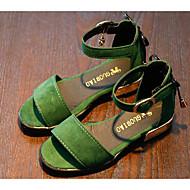 baratos Sapatos de Menina-Para Meninas Sapatos Couro Ecológico Verão Conforto Sandálias para Preto / Vermelho / Verde