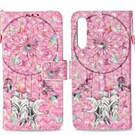 billiga Mobil cases & Skärmskydd-fodral Till Huawei P20 Plånbok / Korthållare / med stativ Fodral Drömfångare Hårt PU läder för Huawei P20