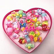 여성용 반지 세트 - 꽃장식, 버터플라이 숙녀, 단순한, 단 보석류 레인보우 제품 생일 선물 조절가능