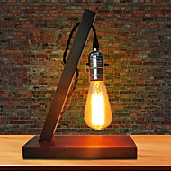 billige Skrivebordslamper-Moderne / Nutidig Nytt Design / Kreativ Skrivebordslampe Til Stue / Leserom / Kontor Tre / Bambus 220V Rød