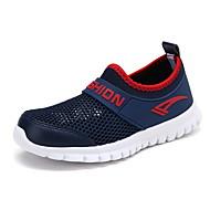 baratos Sapatos de Menino-Para Meninos Sapatos Com Transparência Primavera Verão Conforto Mocassins e Slip-Ons para Branco / Vermelho / Azul Real