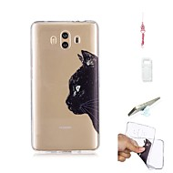 billiga Mobil cases & Skärmskydd-fodral Till Huawei Mate 10 Genomskinlig Skal Katt Mjukt TPU för Mate 10
