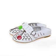 baratos Sapatos Femininos-Mulheres Sapatos Couro Ecológico Primavera Verão Conforto Mocassins e Slip-Ons Caminhada Sem Salto Ponta Redonda Branco