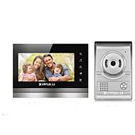 billige Dørtelefonssystem med video-XINSILU XSL-V70K-L+ sliver 7 tommers Håndfri 800*480 pixel En Til En Video Dørtelefon
