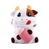 スクイーズおもちゃ / ストレス解消グッズ Cow ストレスや不安の救済 / 減圧玩具 ポリウレタン 1 pcs 子供用 フリーサイズ ギフト