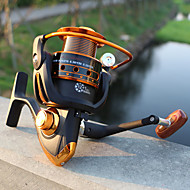 cheap Fishing-Fishing Reel Spinning Reel 5.2:1 Gear Ratio+12 Ball Bearings Hand Orientation Exchangable Sea Fishing / Bait Casting