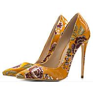 baratos Sapatos Femininos-Mulheres Sapatos Seda Primavera / Outono Conforto / Plataforma Básica Saltos Salto Agulha Preto / Amarelo / Verde