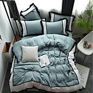 billige Solide dynetrekk-Sengesett Ensfarget / Moderne Polyester Trykket 4 delerBedding Sets / 300 / 4stk (1 Dynebetræk, 1 Lagen, 2 Pudebetræk)