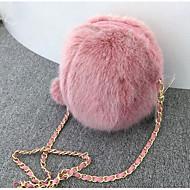 baratos Bolsas de Ombro-Mulheres Bolsas PU Bolsa de Ombro Ziper Personagem Branco / Rosa
