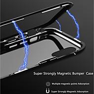 preiswerte -Hülle Für Apple iPhone X / iPhone 8 Transparent / Magnetisch Rückseite Solide Hart Aluminium für iPhone X / iPhone 8 Plus / iPhone 8