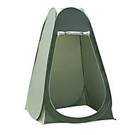 1 Person Brusetelt Udendørs Fugtsikker Hurtigtørrende Åndbarhed Enkeltlags Pop-up Kuppel camping telt 2000-3000 mm for Camping Rejse Udendørs PU Læder 120*120*190 cm