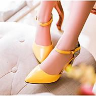 baratos Sapatos Femininos-Mulheres Couro Ecológico Verão Conforto Saltos Salto Agulha Branco / Preto / Amarelo / Diário