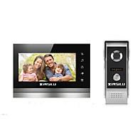 billige Dørtelefonssystem med video-XINSILU XSL-V70K-M4 7 tommers Håndfri 800*480 pixel En Til En Video Dørtelefon