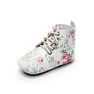 baratos Sapatos de Menina-Para Meninas Sapatos Couro Sintético Primavera & Outono Conforto / Primeiros Passos / Sapatos de Berço Botas Cadarço para Bebê Branco / Verde / Branco / Preto / Côr Camuflagem