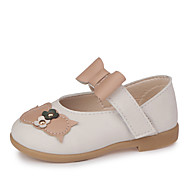 baratos Sapatos de Menina-Para Meninas Sapatos Couro Ecológico Primavera Verão Conforto / Sapatos para Daminhas de Honra Rasos Caminhada Laço / Velcro para Infantil