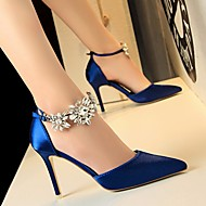 baratos Sapatos Femininos-Mulheres Sapatos Cetim Verão Plataforma Básica Saltos Salto Agulha Verde / Azul / Rosa claro