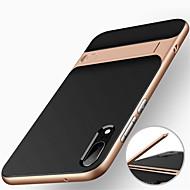 Case Kompatibilitás Huawei P20 / P20 lite Ütésálló / Állvánnyal Fekete tok Páncél Kemény PC mert Huawei P20 / Huawei P20 Pro / Huawei P20 lite