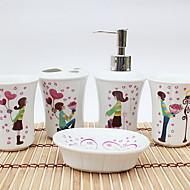 Χαμηλού Κόστους Σετ αξεσουάρ μπάνιου-Σετ αξεσουάρ μπάνιου Χαριτωμένο / Δημιουργικό Μοντέρνα Κεραμικό 5pcs - Μπάνιο Μονό